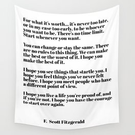 for what it's worth - fitzgerald quotes Wall Tapestry