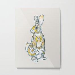 Mandala Bunny Metal Print