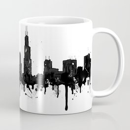 Watercolor Chicago Skyline Coffee Mug
