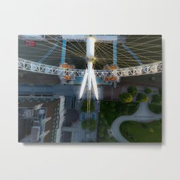 Above the London Eye Metal Print