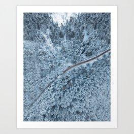 White Forest Print, Snow Austria, Winter Poster, Nature Photography, Wall Art, Minimal Nature Art Print
