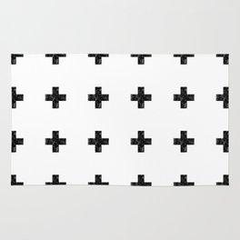Watercolor Swiss Cross (White) Rug