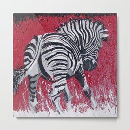 Little Zebra Metal Print