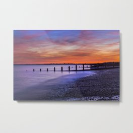 Sunset over Dymchurch Metal Print
