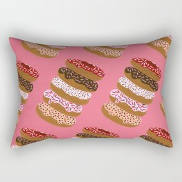 Stacked Donuts on Cherry Rectangular Pillow