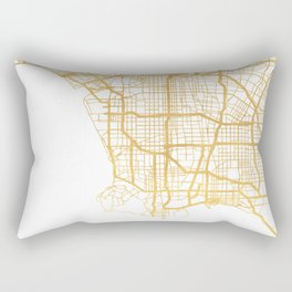 LOS ANGELES CALIFORNIA CITY STREET MAP ART Rectangular Pillow