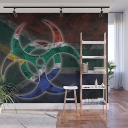 Biohazard South Africa, Biohazard from South Africa, South Africa Quarantine Wall Mural