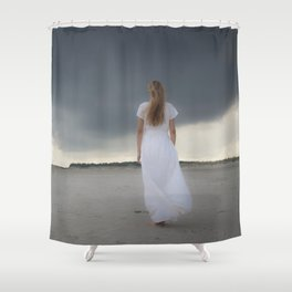 Waiting for the storm Shower Curtain