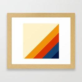 Retro Lines Diagonal Framed Art Print