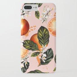 Citrus paradise. Tropical pattern with oranges iPhone Case