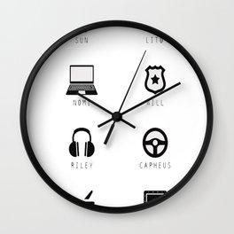 Sense8 Characters Logo Wall Clock