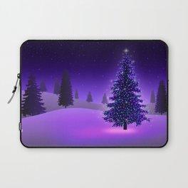 Purple Christmas Tree Laptop Sleeve