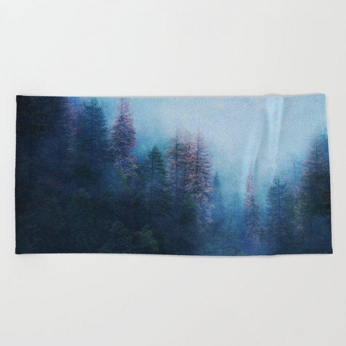Dreamy Winter Forest Beach Towel