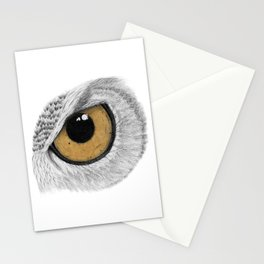 Gold Owl Eye Stationery Cards
