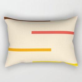 Multicolored Vintage Stripes Rectangular Pillow