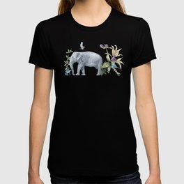 Elephants On Parade Illustration - Bagaceous T-shirt