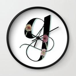 gerbera daisy Wall Clock