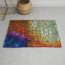 Colorful Stone Rock'd Abstract Art By Sharon Cummings Rug