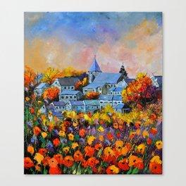 Autumn in Awagne  Canvas Print