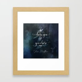 I chose you and you chose me. Julian Blackthorn. Lord of Shadows. Framed Art Print