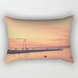 Trieste. Sunset over the Molo Audace. Rectangular Pillow