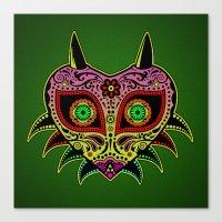 majoras mask Canvas Prints featuring Sugarskull / Majoras mask /color by tshirtsz