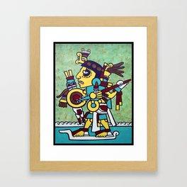 Mixtec Warrior Framed Art Print