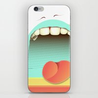 fear iPhone & iPod Skins featuring Fear by Laima St