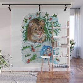 Happy New Year Surprise Wall Mural