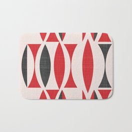 Seventies in Cherry Red Bath Mat