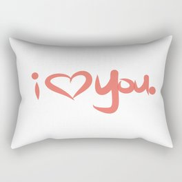 I Love You in Peach Rectangular Pillow