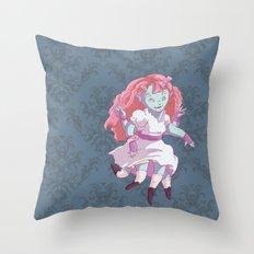 Octo Girl  Throw Pillow
