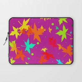 Forever Autumn Leaves purple 4 Laptop Sleeve