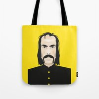 nick cave Tote Bags featuring Nick cave by Matteo Lotti