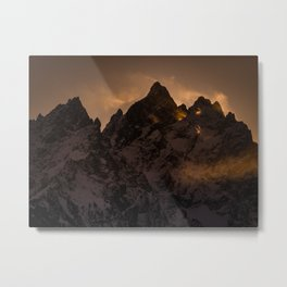 Tetons At Sunset Metal Print