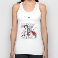 swan queen Tank Tops featuring SWAN MILLS FAMILY #2 by Maryne.