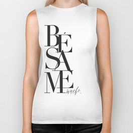 BESAME PRINT, Kiss Me Quote,Spanish Poster,Spanish Decor,Love Quote,Besame Mucho Sign,Scandinavian W Biker Tank
