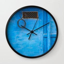 India Jodhpur Blue + Blue Wall Clock