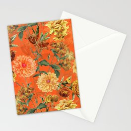 Vintage & Shabby Chic - Warm Sunny Yellow Flower Garden Stationery Cards