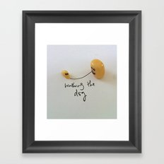 Yogurt Raisin. Framed Art Print