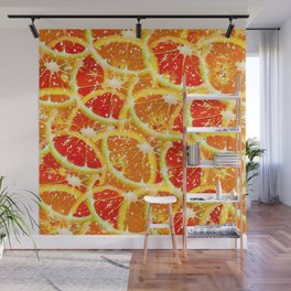 Snow citrus Wall Mural