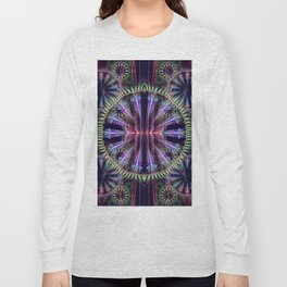 Artistic geometric graphic abstract design with textures Long Sleeve T-shirt