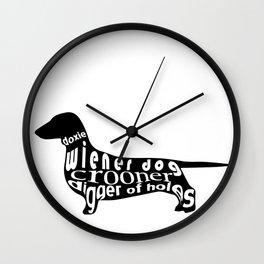 Wiener Dog Wall Clock