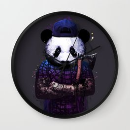woods panda Wall Clock