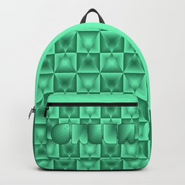 Mirror diamond pattern in shades of green Backpack