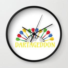 Darts Funny Dartaggedon Dart Lover Wall Clock