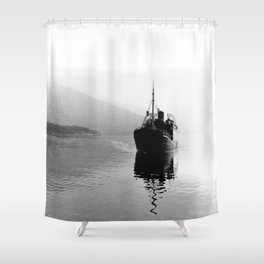 Fjord ship Shower Curtain