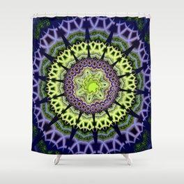 Groovy crackles patterns mandala Shower Curtain
