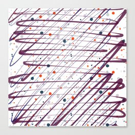 Maroon Splatter Pattern Canvas Print