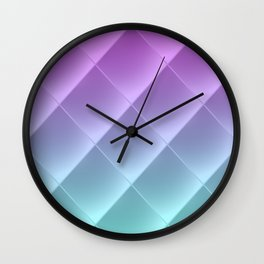 Purple and blue rhombus pattern Wall Clock